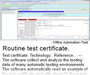 Routine Test Certificate