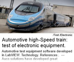 Automotive High-Speed Train: test of electronic equipment